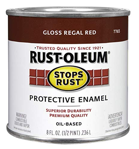 Rust-Oleum 7765730 Protective Enamel Paint, 8-Ounce, Regal Red