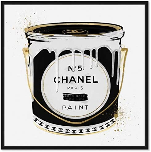The Oliver Gal Artist Co. Fashion and Glam Framed Wall Art Canvas Prints 'Fashion Paint Noir' Can
