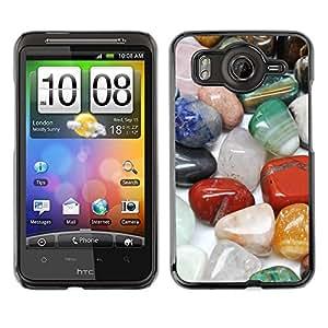 TopCaseStore / la caja del caucho duro de la cubierta de protección de la piel - Protective Magical Stones Precious Colorful - HTC G10