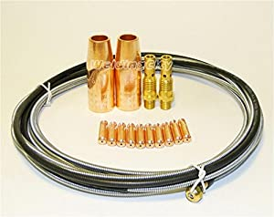 WeldingCity MIG Welding Gun Kit Tip-Nozzle-Diffuser-Liner for Lincoln Magnum 100L Tweco Mini/#1 from WeldingCity