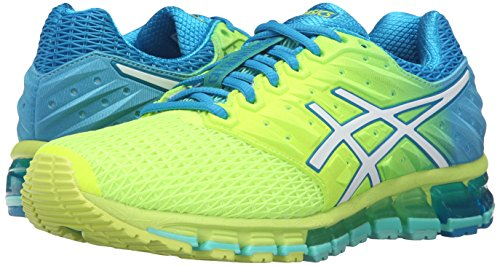ASICS Women's Gel-Quantum 180 2 running Shoe, Safety Yellow/White/Blue Jewel, 8.5 M US by ASICS (Image #6)