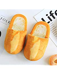ZYGAJ Designer Personality Simulation Bread Lovers Adult Slippers Winter Cute Toast Home Interior Floor Bedroom Ladies Home Shoes