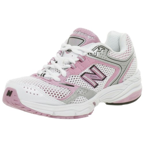 New Balance Women's W755 Running Shoe,White/Silv/Lavendar,7 - Apparel Lavendar