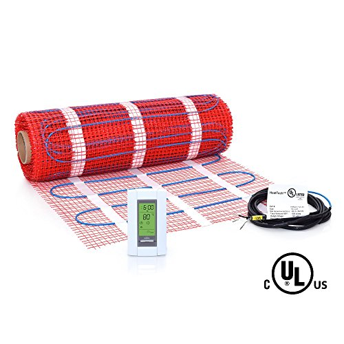 50 sqft Mat Kit, 120V Electric Radiant Floor Heat Heating System w/ Aube Programmable Floor Sensing Thermostat
