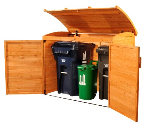 Leisure Season Horizontal Refuse Storage Shed, Solid Wood, Decay Resistant RSS2001