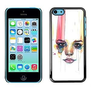 For Apple iPhone 5C,S-type® Woman Minimalist Lips - Arte & diseño plástico duro Fundas Cover Cubre Hard Case Cover