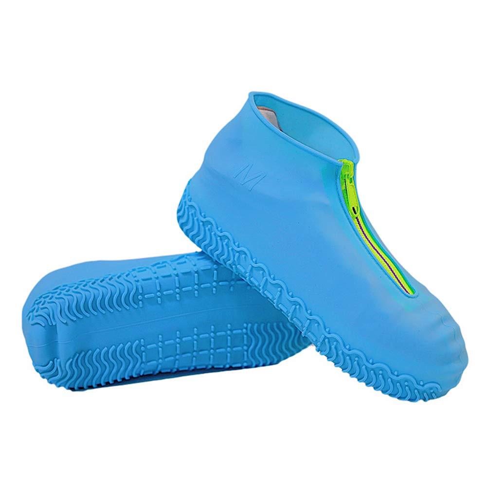 HYRL Silicone Shoe Cover, Waterproof Zipper Elastic Rain Shoe Covers(1 Pair) by HYRL