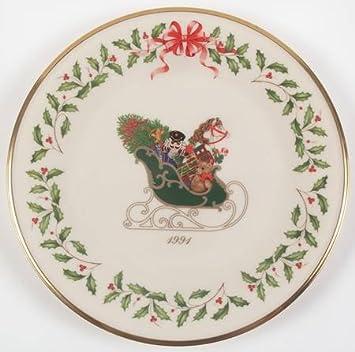 lenox china holiday annual christmas plate no box collectible 74026