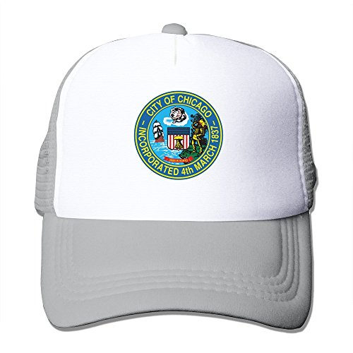 Cool Chicago Seal Logo Adult Mesh Trucker Hat Cap One Size Ash