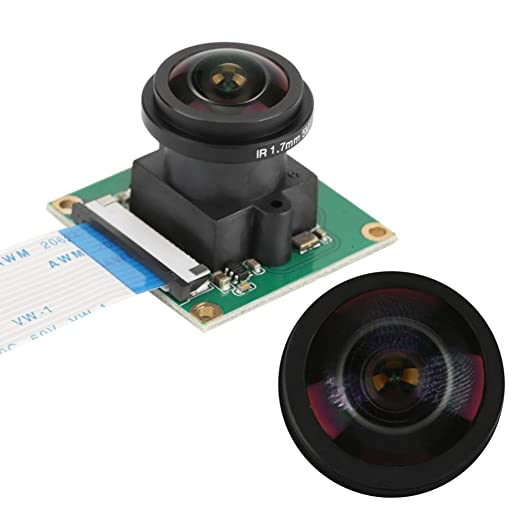 Akozon M/ódulo de c/ámara para Raspberry Pi B 3//2,5 MP 1080p HD 175 /° Gran Angular 32 32mm
