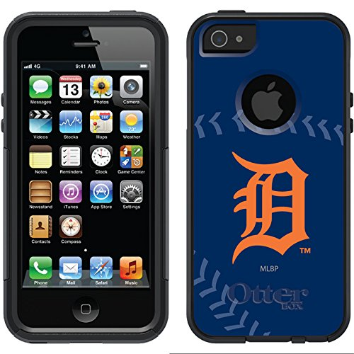 Coveroo Commuter Series Black Cell Phone Case for iPhone 5/5s - Retail Packaging - Detroit Tigers Stitch