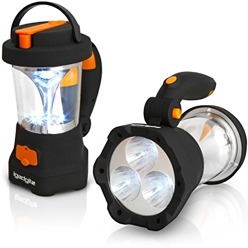 Dynamo Lantern (iGadgitz Xtra Lumin 4 in 1 Dynamo Rechargeable 3 LED Spotlight Torch & 10 LED Lantern + 1 Year Warranty)