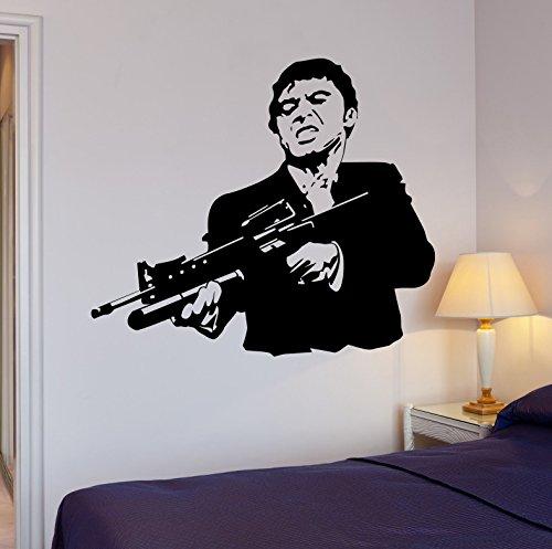 Wall Stickers Vinyl Decal Scarface Film Gangster Mafia Gun Cool Decor 1678