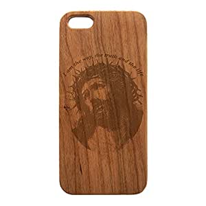 Wood Engraved, English Prayer, I am the way, the truth and the, for iPhone 5/5s