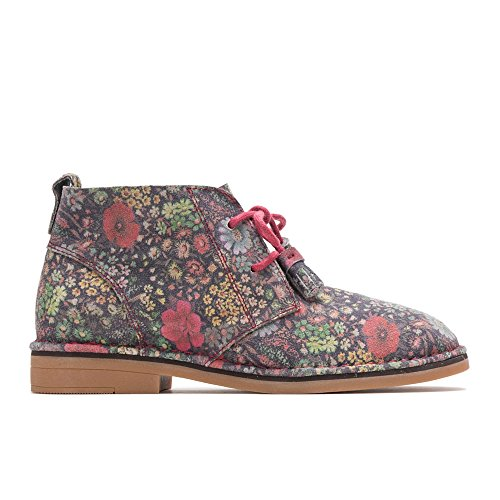 (Hush Puppies Women's Cyra Catelyn Black Floral Suede)