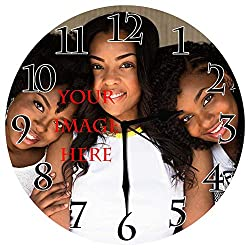 BCWAYGOD Personalized Wall Clock, Customized for Anniversary Friends Girlfriends, Customized Friendship Photo Gift Birthday Wedding Valentine's Day, 10 inch