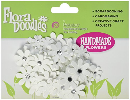 PETALOO Flora Doodles Jeweled Florettes 80/Pkg-All White
