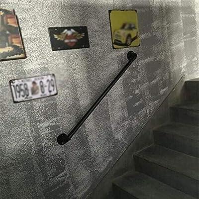 Jsmhh Ducha Valla rieles Apoyabrazos Retro del Tubo de Agua Escalera Barandilla Barandilla ático Interior y al Aire Libre Bar Valla Hecha de los Escaleras 0.5m (Tamaño: 2m) (Color : -, Size :