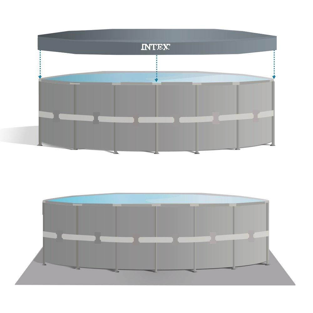 Intex 26332NP - Piscina desmontable Ultra Frame 549 x 132 cm, 26.423 litros: Amazon.es: Jardín