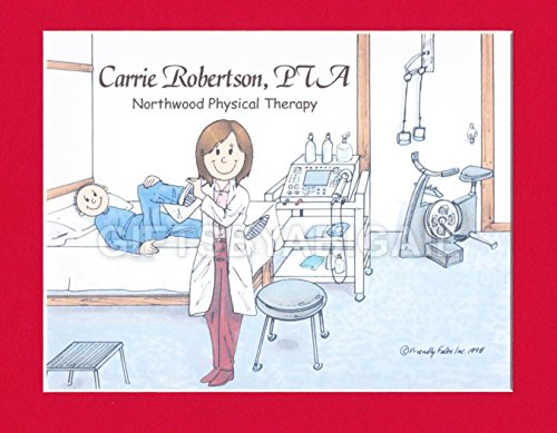 Physical Therapy Assistant Personalized Gift Custom Cartoon Print 8x10, 9x12 Magnet or Keychain by giftsbyabigail