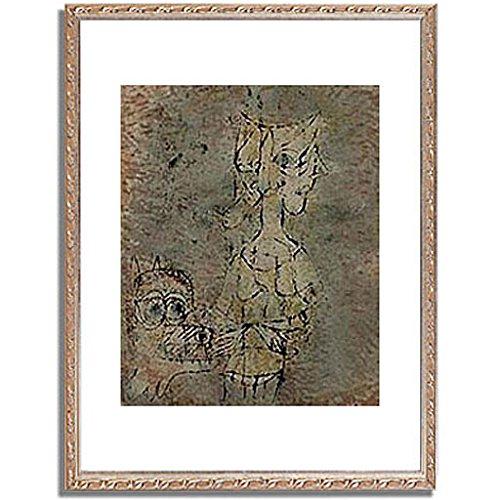 パウルクレー 「 Frisst aus der Hand (Zweite Fassung). 1920. 」 インテリア アート 絵画 壁掛け アートポスター フレーム:装飾(銀) サイズ:L (412mm X 527mm) B00PB8MTPA5.フレーム:装飾(銀) 3.L (412mm X 527mm)