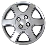 hyundai 14 wheel cover - TuningPros WSC-888S14 Hubcaps Wheel Skin Cover 14-Inches Silver Set of 4