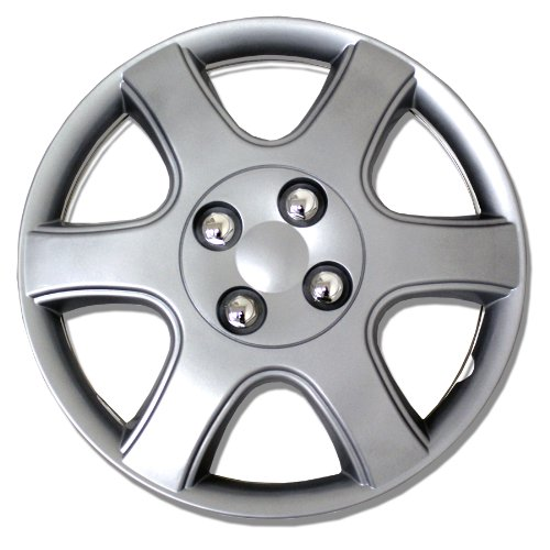 TuningPros WSC-888S14 Hubcaps Wheel Skin Cover 14-Inches Silver Set of 4 (Best Escorts In Nj)