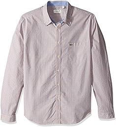 Men Long Sleeve Poplin Check Regular Fit Woven Shirt Ch3954