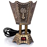 AM Electric Bakhoor Burner Electric Incense Burner - Oud Resin Frankincense (Small Hexagon Bronze)