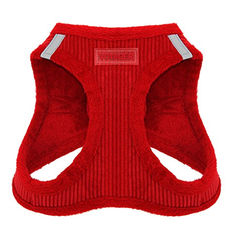 Cheap Voyager Soft Harness for Pets – No Pull Vest, Best Pet Supplies, Large, Red Corduroy