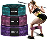 BERTER Resistance Bands for Legs and Butt, Workout Exercise Hip Bands, Fitness Booty Loop Non-Slip Bands for S