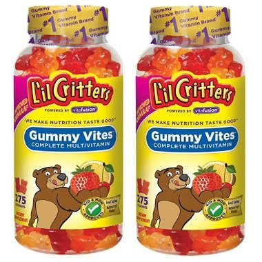 [海外発送]~2本組み~ Gummy Vites - 220グミ - お子様用ビタミンフルーツ味のグミ たっぷり大容量! B00538CWKU