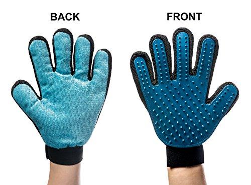 VlueVille 2-and-1 Pet Grooming Glove:Deshedding Tool + Furniture Pet Hair Remover Glove-for Dog & Cat- Deshedding Rubber…