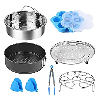 Cooker Accessories Set Compatible with Instant Pot 5,6,8 QT Electric Pressure Cookers Accessories (8 pcs Cooker Accessories Set)