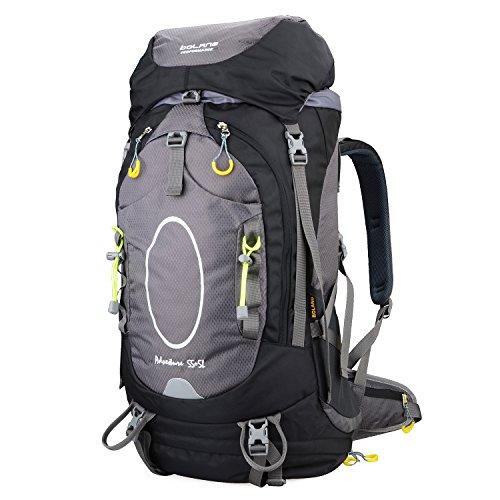 bolang Outdoor Wandern Pack interne Rahmen Rucksäcke Camping Klettern Tasche, rot Schwarz