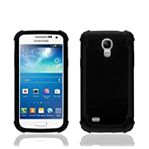Impact Rugged Dual Layer Shock Proof Case Cover For Samsung Galaxy S4 Mini i9190 - Black