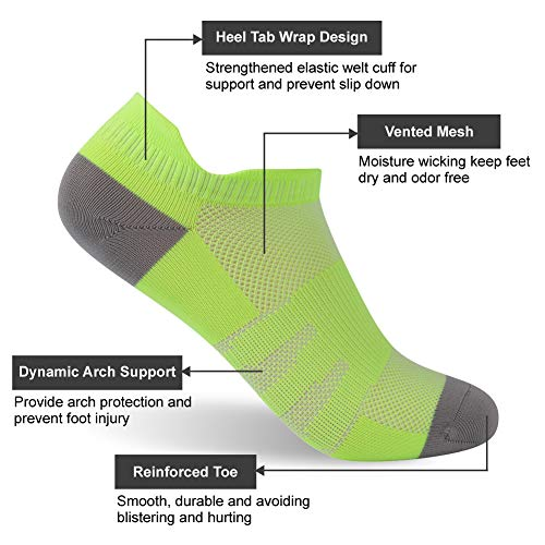 Green Y Pairs Mujer Talla Diwollsam 3 Para Seco Calcetines Antihumedad Única Deportivos fluorescent ajuste xqwSO6gwY