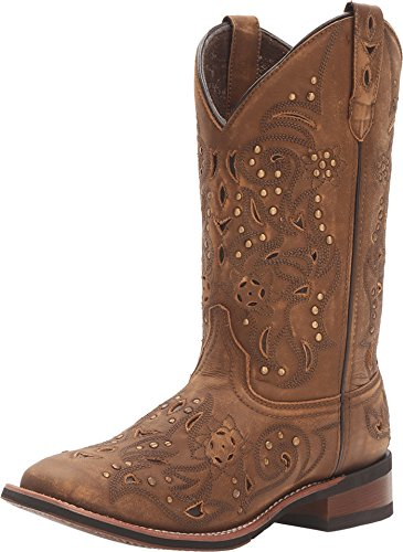 Laredo Western Boots Womens 11 Ulays Broad Toe Brown 5643