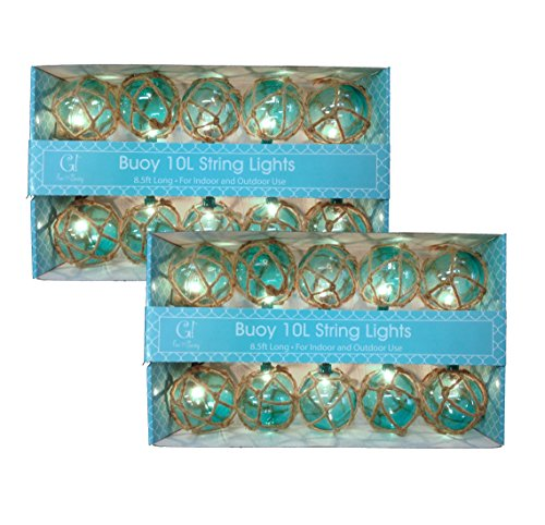 Aqua Nautical Globe String Lights product image