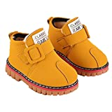 Oksale Newborn Baby Girl Boy Winter Artificial Leather Martin Snow Boots Classic Shoes (4.5T, Yellow)