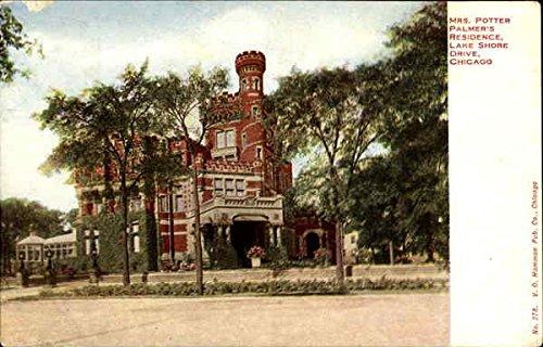 Mrs. Potter Palmer's Residence, Lake Shore Drive Chicago, Illinois Original Vintage Postcard