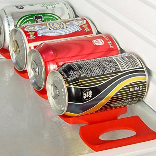 Cans Beer Tank Fridge Silicone Pads Tile Cushions Foldable Wine Bottle Rack Space Saver Stacking Tool Kitchen Organizer ()