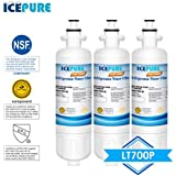 Icepure RWF1200A 3PACK Refrigerator Water Filter Compatible with LG LT700P, ADQ36006101,KENMORE 469690