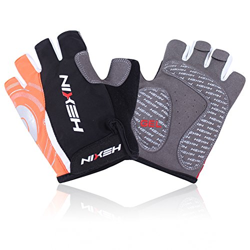 HEXIN Shock-Absorbing Road Racing Bicycle Gloves Half Finger Cycling Gloves