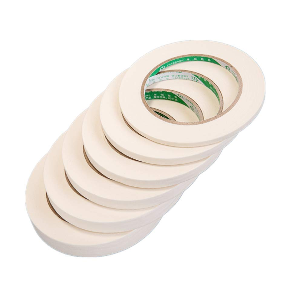 Masking Tape, General Purpose Masking Tape for Production Painting, 25mm by 165Ft(2.5cm width50m Long) 6-Pack