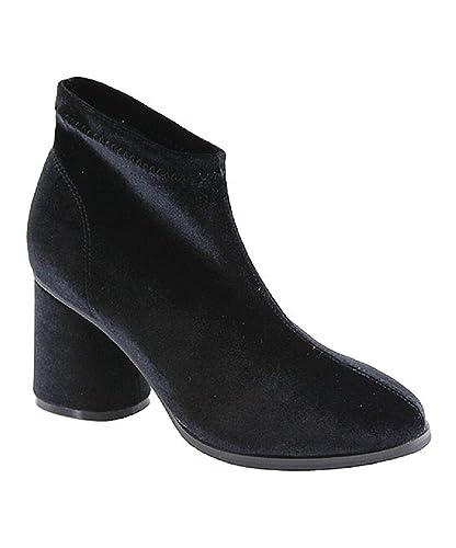 Women's Slinky Chunky Heel Velvet Shoe Bootie