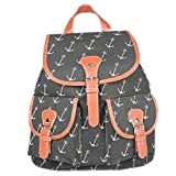 Snlydtan Unisex Canvas Navy Marine Anchor Arrow Printed Backpack Bags