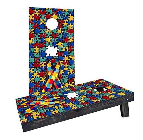 全日本送料無料 Custom Cornhole Boards Autism CCB1142-2x4-C Autism Awareness Cornhole Boards Custom Boards [並行輸入品] B07HLHDXF9, 富里市:9f6d4277 --- diceanalytics.pk