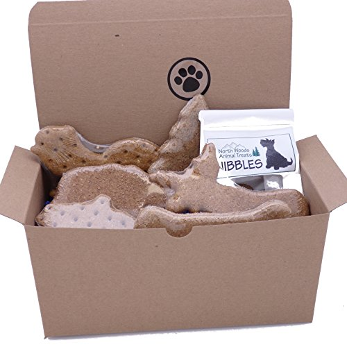 Image of Dog Gift Box with Assorted Treats - Made in USA
