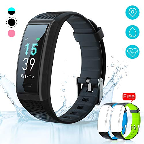 AKASO Helium Fitness Tracker Activity Tracker with Heart Rate and Sleep Monitor Smart Pedometer Watch Calorie Counter Step Counter Fitness Tracker Watch for Kids Women Man (H-BAND3) Black (Runners Fitness Tracker)
